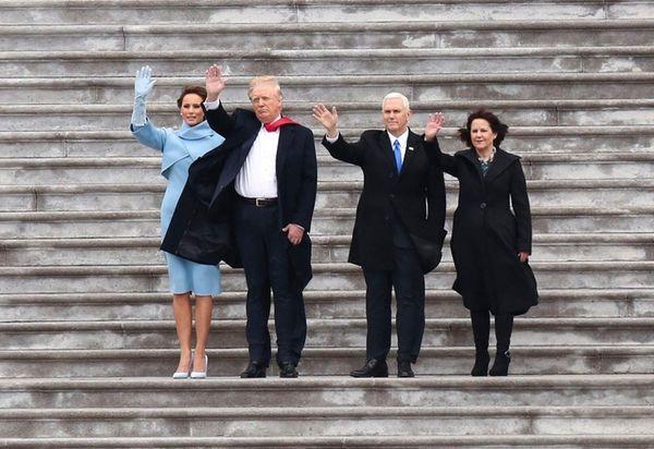 First lady Melania Trump, President Donald Trump, Vice
