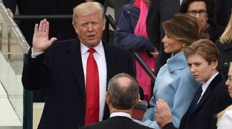 Donald Trump is sworn in as the 45th