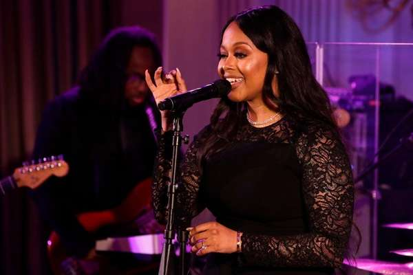 Chrisette Michele at the White House on Aug.