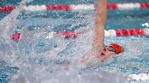 Sachem's Nicholas Neri swims in the bonus heat