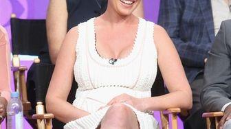 Actress Katherine Heigl speaks on stage at the