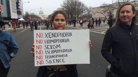 Patty Rojas, 20, a student at Syracuse University,