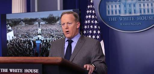 White House spokesman Sean Spicer, in his first