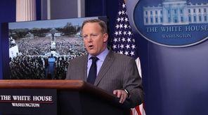 White House spokesman Sean Spicer, in his first