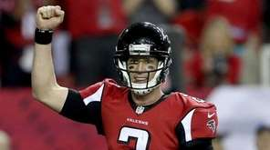 Matt Ryan of the Falcons reacts after a