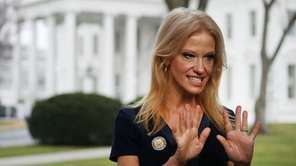 Kellyanne Conway, counselor to the president, prepares to