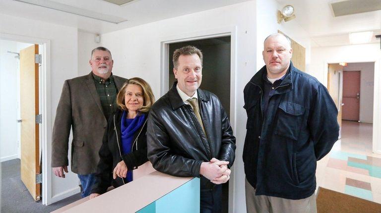 From left, Tim Hubbard, Judy Doll, Sean Walter