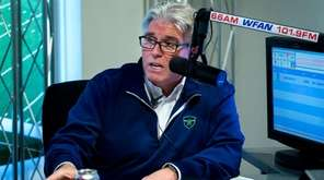 Mike Francesa talks to Bill Simmons, not pictured,