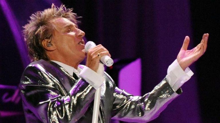 Rod Stewart performs at Jones Beach Theater on