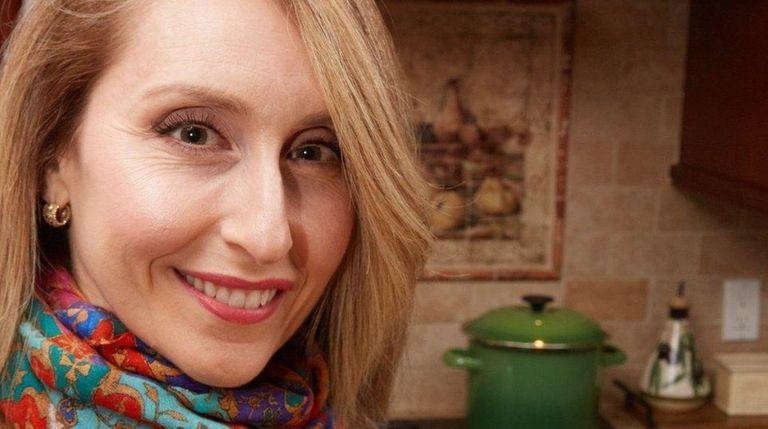 Karen Devlin with her winter root soup; the