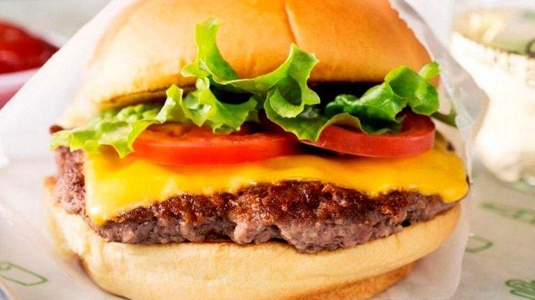 A Shake Shack cheeseburger.