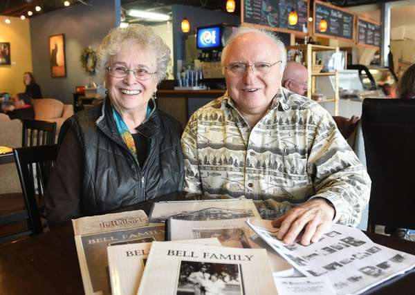 Beryl and Leonard Pielli with the book they