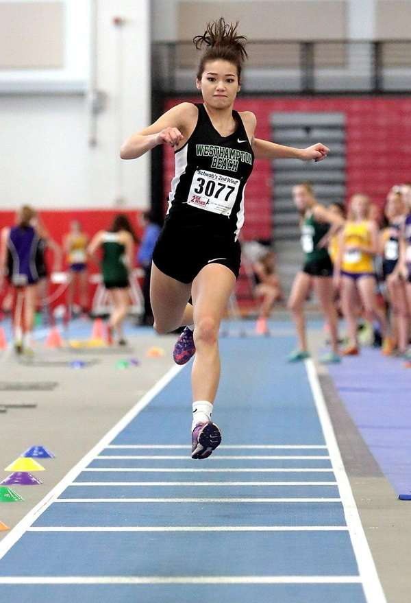 Westhampton's Sarena Choi, shown here during a meet
