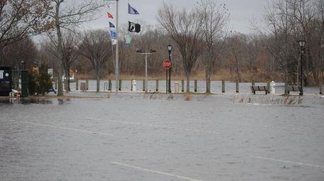 A flooded parking lot at Heidi Behr Wayin