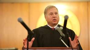 State Supreme Court Judge Thomas Adams in Mineola