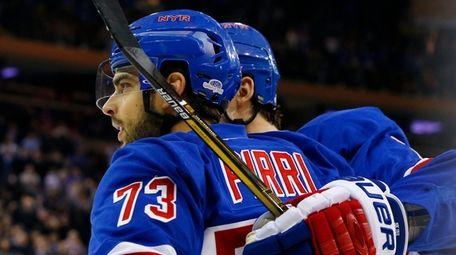 Brandon Pirri #73 of the New York Rangers