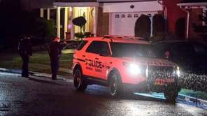 Nassau County police investigate a shooting on Derby