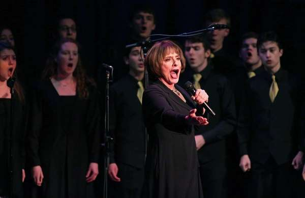 Actress Patti LuPone performs with students from Northport's