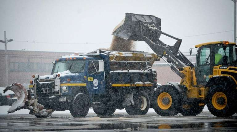Town officials have hired part-time plow operators and