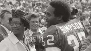 Football star O.J. Simpson is featured in ESPN's