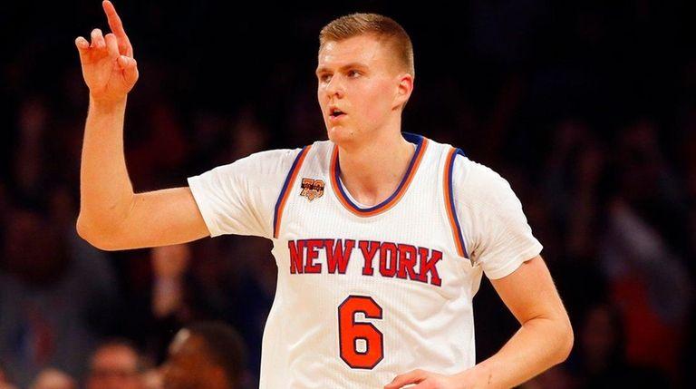 Kristaps Porzingis of the Knicks ranks seventh in