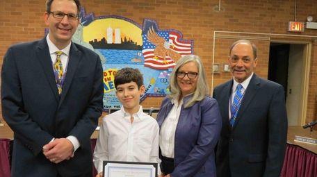 Benjamin Perez-Flesler, a sixth-grader at Port Jefferson Middle