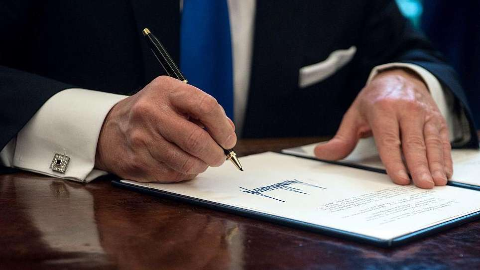 President Donald Trump has signed 58 executive orders
