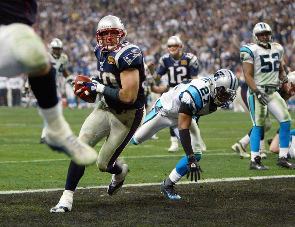 1 yard, Super Bowl XXXVIII vs. Carolina Panthers,