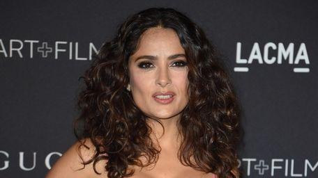 Actress Salma Hayek arrives for the LACMA 2015