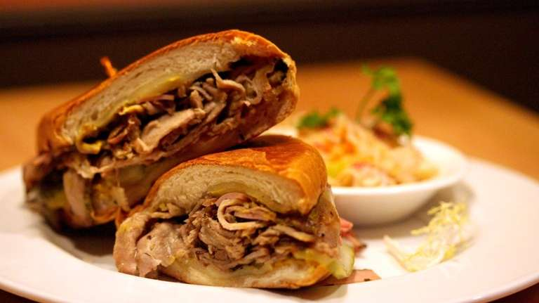 A Cuban sandwich served at the reborn Cafe