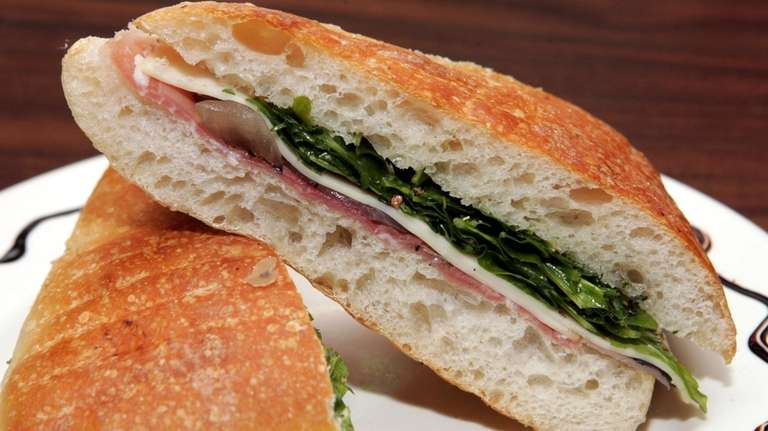 The Prego, a panini made from proscuitto, sauteed