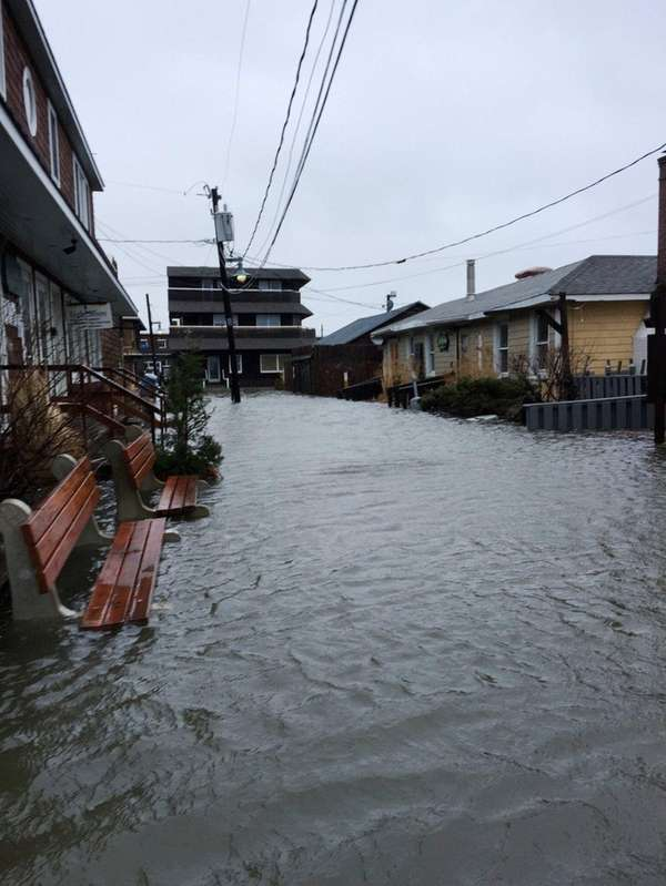 Bay View Walk in Ocean Beach was inundated