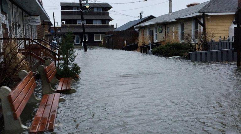 Bay View Walk in Ocean Beach was inundated
