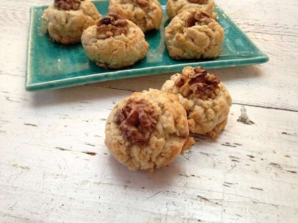 Walnut cookies are a popular dessert during Chinese