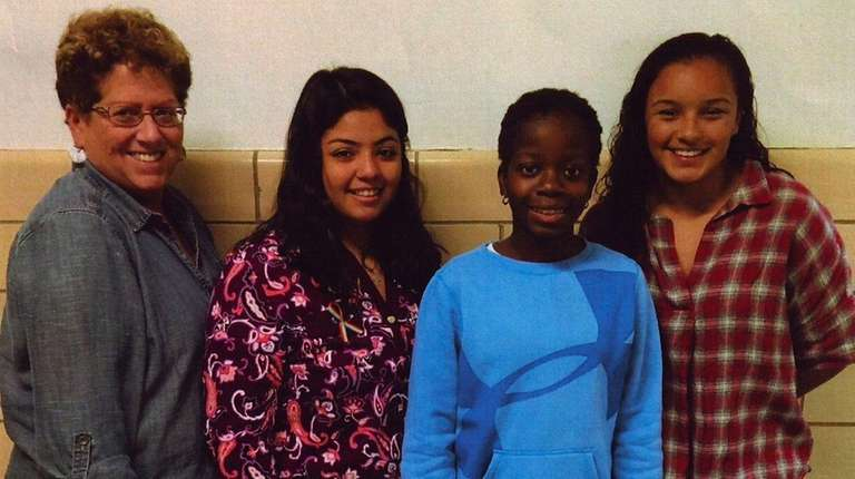 Kidsday reporter Elizabeth Andre, second from right, with