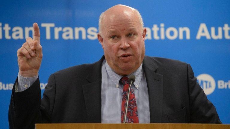 Outgoing Metropolitan Transportation Authority Chairman and CEO Thomas