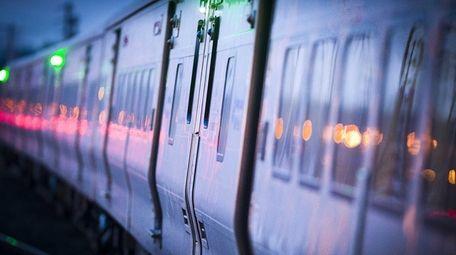 A file photo shows a Long Island Rail