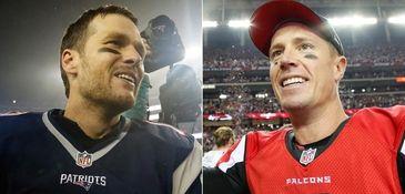 Tom Brady, left, and Matt Ryan will go
