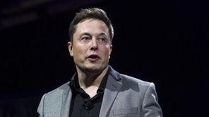 Tesla Motors CEO Elon Musk unveils the company's