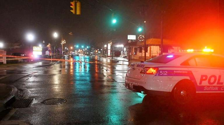 Suffolk County police respond to East Main Street