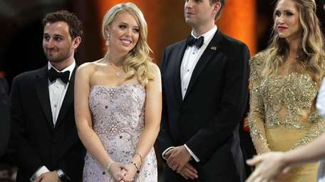 TiffanyTrump, shown here with her guest Ross Mechanic,