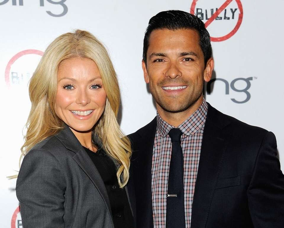 YEARS OF MARRIAGE: 20 Ripa, 46, and Consuelos,