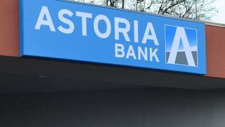 The Astoria Bank logo in an undated photo.