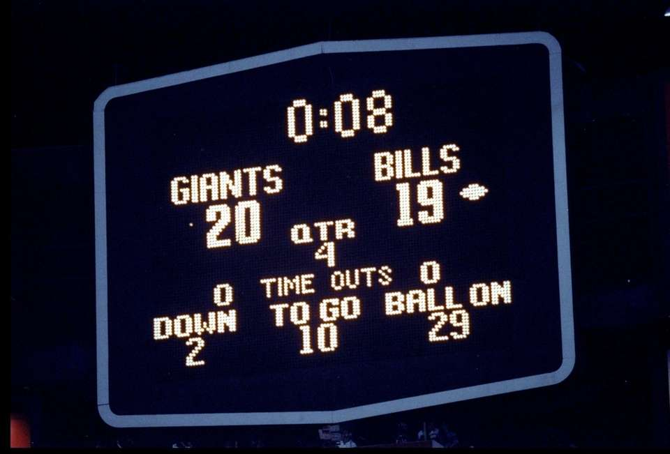 A general view of the scoreboard during Super
