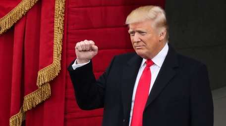President-elect Donald Trump arrives at his inauguration ceremony