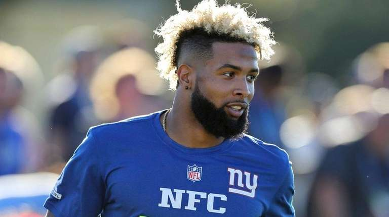 Giants wide receiver Odell Beckham Jr. competes in