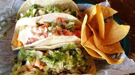 Trio tacos from Swell Taco in Babylon. They'll