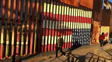 The border between the United States and Tijuana,