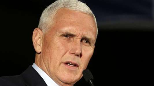 Mike Pence, then Indiana's governor and the Republican