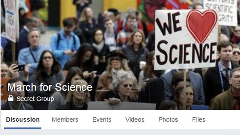 A Facebook page for the March for Science